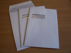 A4/C4 White Window Gusset Envelopes